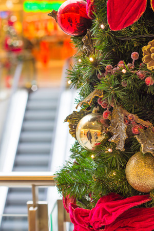 christmas tree in shopping center photo