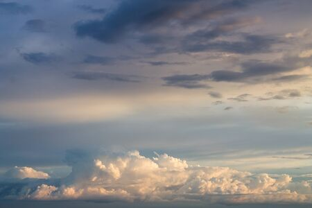 Beautiful blue and white cloudscape background