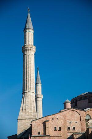 view on Hagia Sophia on blue sky Stock Photo