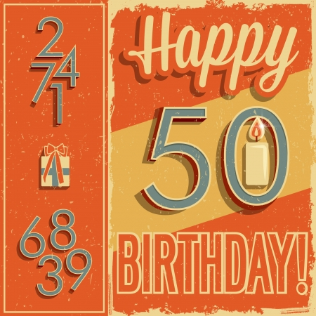 birthday card and vintage numbers Vector