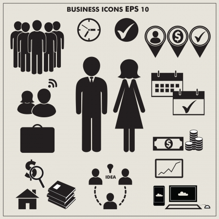 business woman: Business icons