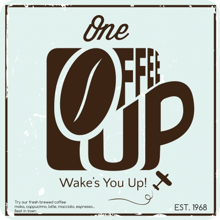 Coffee cup poster Vector