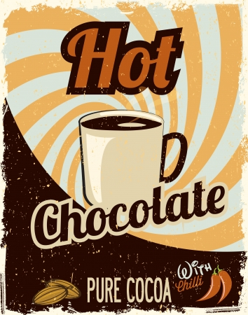 Hot Chocolate retro Vector