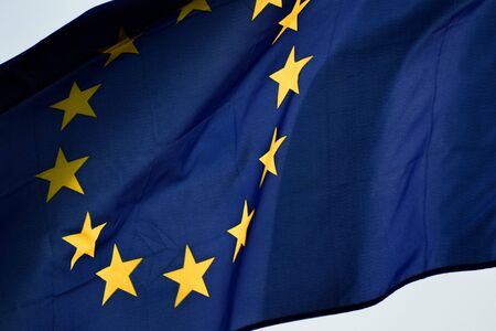 detail: European flag detail Stock Photo