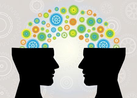 vélemény: fej gondol kommunikáció