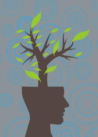head green tree ecology  Vector