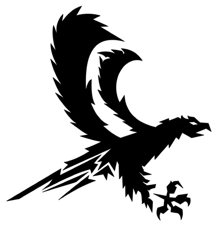 black strong eagle  Vector