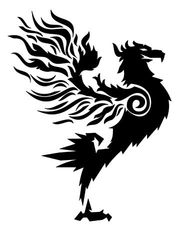 adler silhouette: aufstehen starkes Feuer Vogel