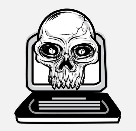 sceleton: skull notebook vector  Illustration