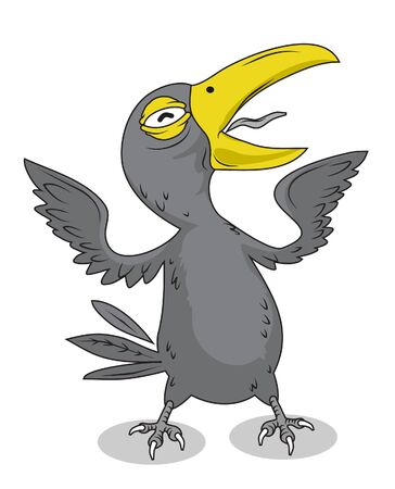 Crow Bird Character Vector