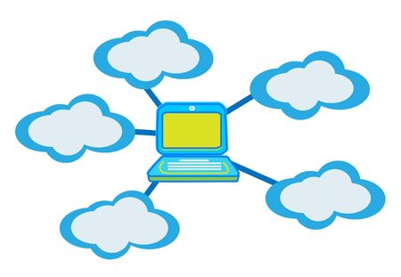 Cloud computing concept vector  Vector