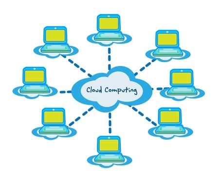 Cloud computing business vector  Vector