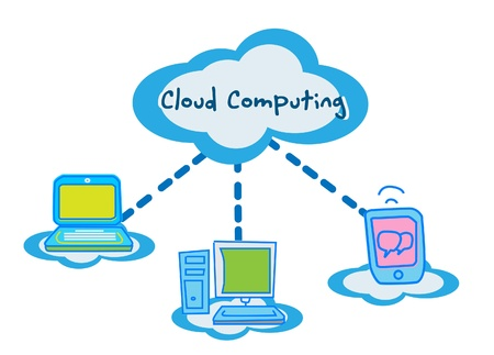 cloud computing concept communicating Stock Vector - 11079386