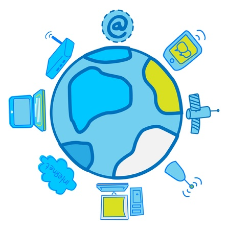 Global Electronics And communications Stock Vector - 11079396