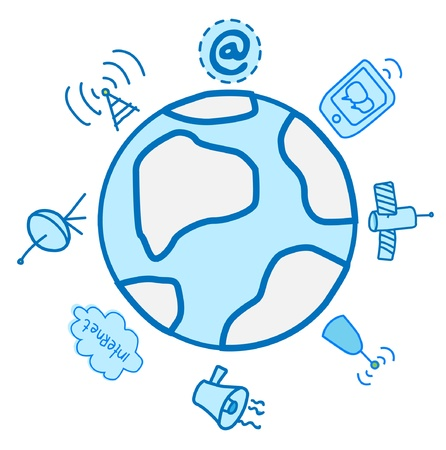 Global Electronics And communications Vector