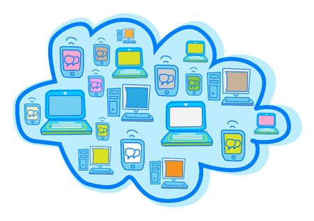 cartoon world: Cloud Computing