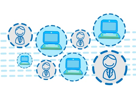 intranet: internet connection vector