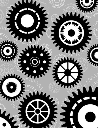 Gear set background wallpaper Vector