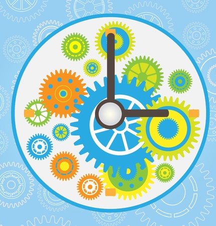 metal working: gear clock vector