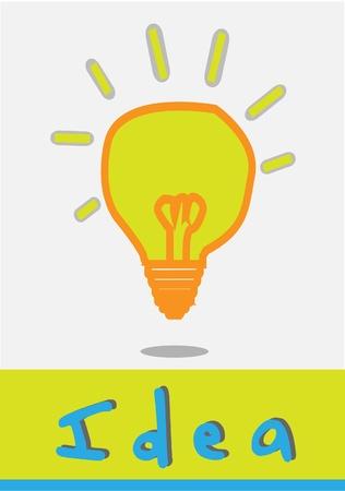 idea lamp yellow grey  Vector