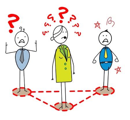 business stress: el estr�s l�der de negocios con el equipo Vectores