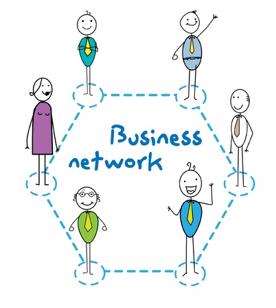 business network Stock Vector - 11079413