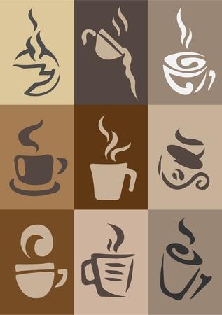 coffee wallpaper Vector