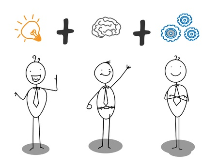 kavram ve fikirleri: smart + idea + work progress