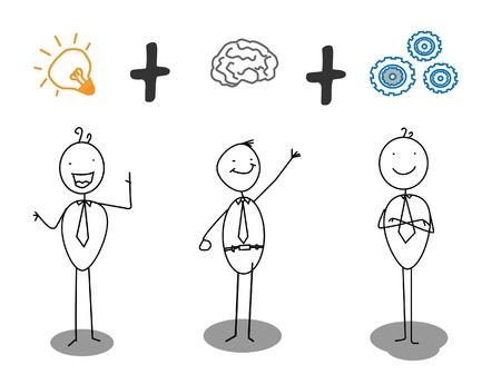smart + idea + work progress