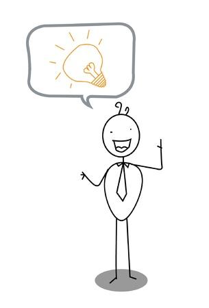 man idea lamp sign  Vector