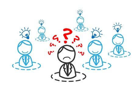 confused cartoon: confused man around the creative man community