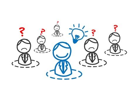 lightbulbs: idea man in business network