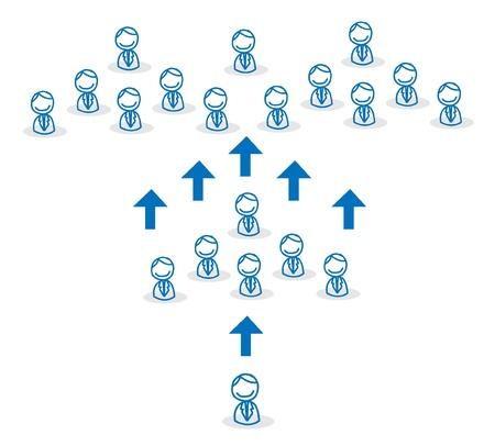 business team growing Vector