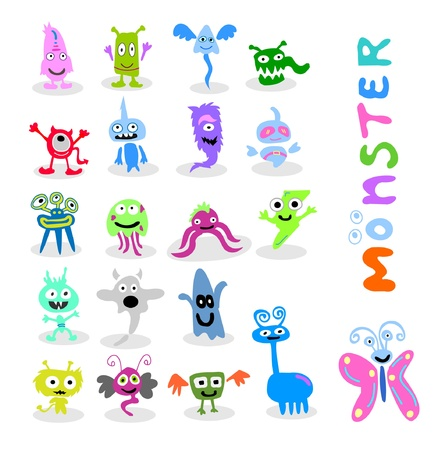 20 set cute monster  Vector