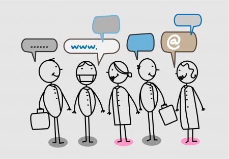 Hospital team Social network Vector