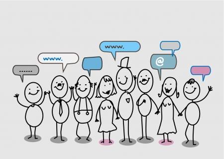 grupo de personas: la gente de la red social de