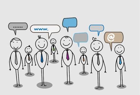 business discussion: hombre de negocios de la red social de la comunidad