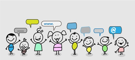 child social network Stock Vector - 11079529