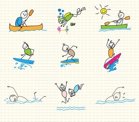 water sports vector doodle  Vector