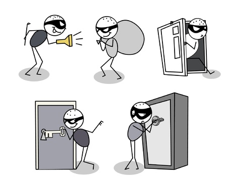 thief set  Stock Vector - 11079593