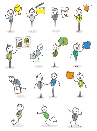 caricaturas de personas: empresario establecer actividad