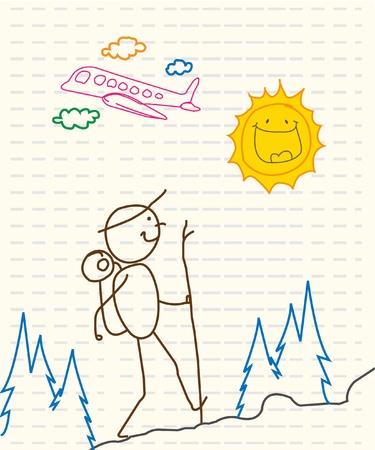 adventurer: sport holiday adventurer  Illustration