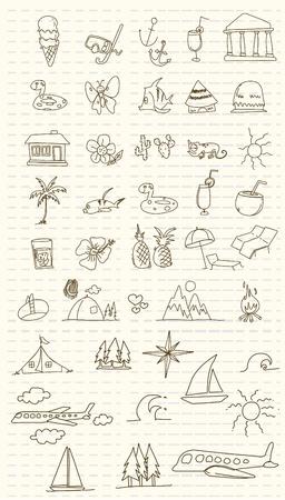holiday vacation summer  Illustration