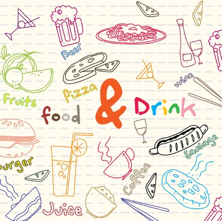 food and drink banner  Vector