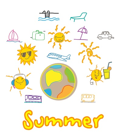 summer traveling holiday  Stock Vector - 11108154