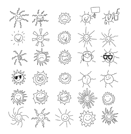 30 sun collection  Stock Vector - 11108155