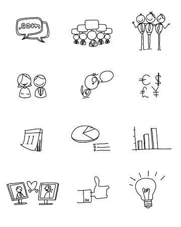 Hand drawn: communication concept