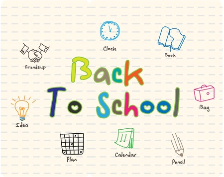 timetable: back to school sign