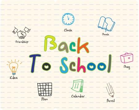 cronograma: de regreso a la escuela signo