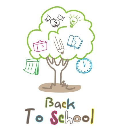 knowledge tree: tree school environment  Illustration
